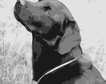 Labrador, Layered Papercut Template, Dog Papercutting Portrait, Pet Portrait, Commercial Use, Personal Use