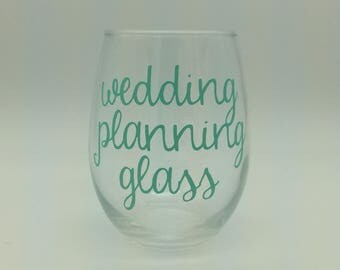 Wedding Planning Glass, Wedding Planning Coffee Mug, Wedding Planning Mug, Cup