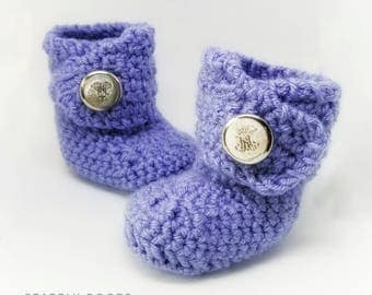 Crochet Stately Baby Boots-Baby Boy Clothes - Baby Photo Prop - Newborn Baby - Newborn Girl Coming Home Outfit - Baby Girl Shoes - uggs