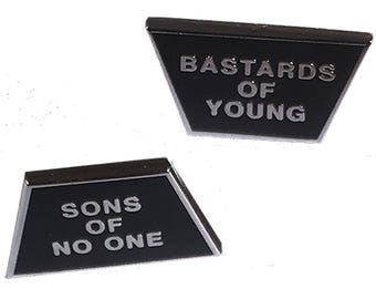 The Replacements hard enamel statement pins
