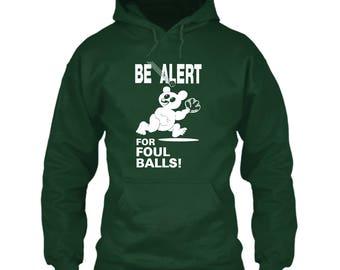 Chicago Cubs Hoodie / Wrigley Field / BE ALERT For Foul Balls! / Green / Size S M L XL 2XL 3XL 4XL 5XL / Steve Bartman / New / Free Shipping