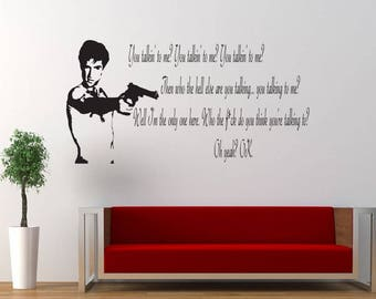 Taxi Driver Quote, Bedroom, Talking, Living Room, Decor, Decal, Sticker, Wallart