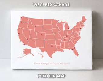 us push pin map gifts for her gifts us push pin travel map us travel poster