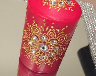 Hand decorated henna candles