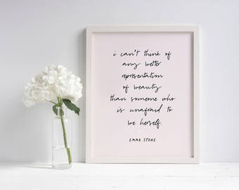 Beauty Motivational Printable (Pink) | Printable Wall Art | Printable Quote | Home Decor | Gift For Her