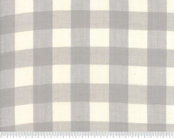 Moda Fabrics - Behind The Scenes Wovens - Large Check Grey Mist by Jen Kingwell - 100% Cotton - 10.5 Yards Available