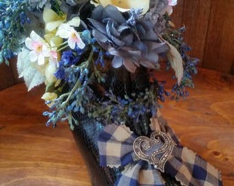 Witch boot flower bouquet