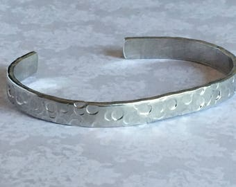 Textured finish Cuff Bracelet - dots