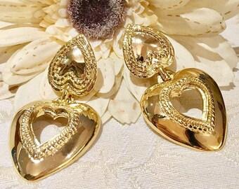 VINTAGE BW Butler & Wilson - heart clip earrings