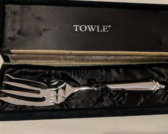 Vintage Towle Cold Meat Serving Fork In Box
