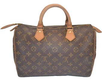 "Authentic Louis Vuitton Monogram Speedy 30 Handbag Purse in Brown 90's Vintage - ""VGUC""  (SALE - 68% Off)"
