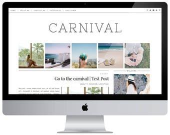 Premade responsive blogger template - CARNIVAL
