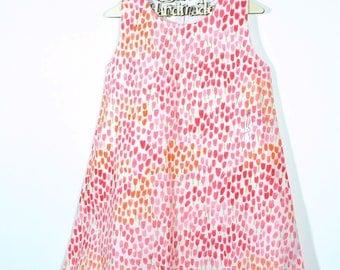 Handmade A Line Dress Michael Miller Tulip Rabbit Pink