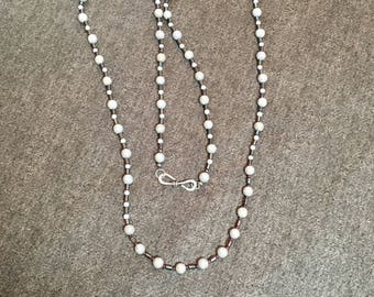 Grey and Ruby Necklace