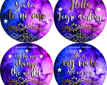 Limited ACOMAF Box- PREORDER - soy candles, bookish candles, bookish set, bibliophile, literary candles, ACOMAF, S J Maas, book candles