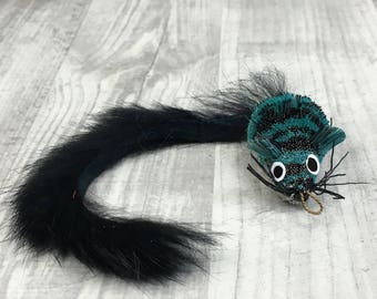 Cat toy refill | Pretty Fly - Fly wand  / Feather jet cat teaser toy attachment | Mouse cat toy | Toss cat toy | Deer hair cat toy