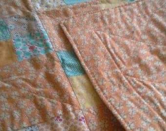 NEW hand pieced and quilted baby quilt or lap cover