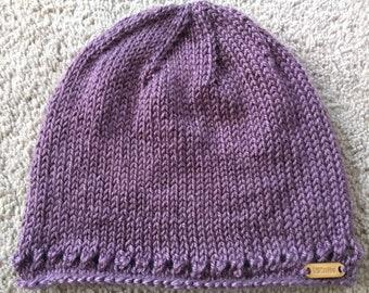 Easy Crochet Pattern For Women S Chemo Cap With Flower