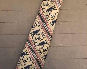 Egyptian Hieroglyphic Silk Necktie by Pierre Cavet