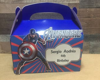 Avenger the Movie Gable /candy boxes birthday