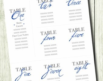 Wedding Seating Chart - Custom sizing
