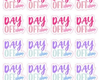 Day Off // Diary // Planner // Stickers