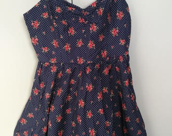 Forever21 strappy floral print dress sz M (165/92A)