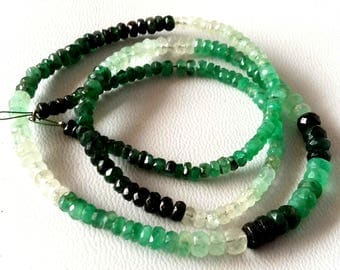 """Natural nice quality  EMERALD Shaded faceted beads ,emerald beads, 2.5 mm -- 4 mm Approx ,15.5""""strand [E2605] emerald loose beads"""
