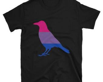 Bi Pride Crow Unisex T-Shirt  lgbtq lgbt lgbtqipa queer gay transgender mogai
