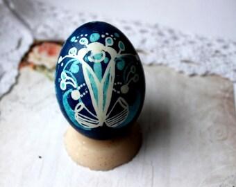 Blue  flower tulip Pysanky Pysanka Ukrainian Easter Egg Easter Egg Holidays