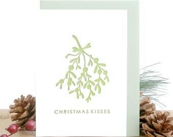 Mistletoe Christmas card, Boyfriend Christmas card, Girlfriend Christmas card, Romantic Christmas card, Christmas card for wife, Mistletoes