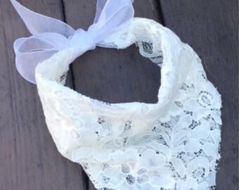 Wedding dog bandana, best dog bandana, dog of honor bandana, lace dog bandana, fancy dog bandana, ring bearer dog bandana