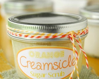 Orange Creamsicle Sugar Scrub Pamper yourself while exfoliating and having a smooth skin
