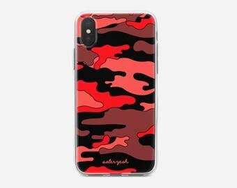 Camo Red iPhone Case 6 / 6s / 7 / 8 / PLUS / X