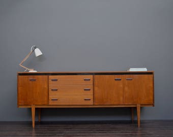 Rare Large Vintage Retro Mid Century Teak Sideboard with Drawers