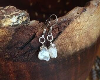 Handmade California Moonstone Earrings