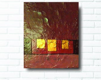 painting red abstract home decor