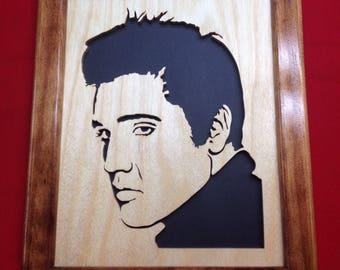 Elvis Wooden Portrait