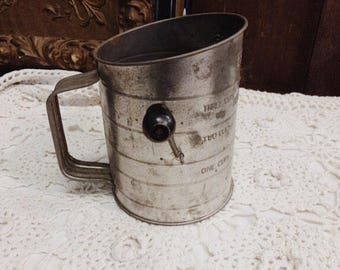 Antique Sifter Black Handle Bromwell's