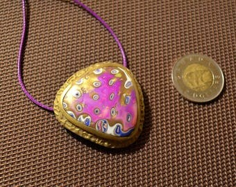 Gorgeous polymer clay pendant, gift for her, jewelry for woman, necklace