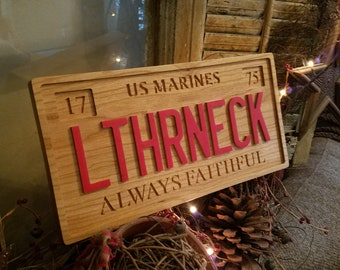 "Leatherneck Red ""License Plate"""