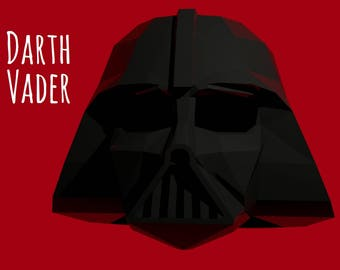 Darth Vader helmet (template for print & instruction) Star Wars mask
