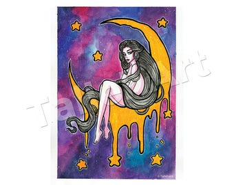 Galaxy On The Moon Original - A3