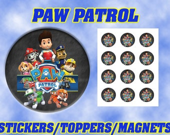 Paw Patrol Stickers / Toppers / Magnets DIGITAL FILE ONLY