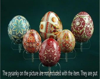 Set of 6 acrylic stands for chicken or goose Easter eggs Pysanka Pysanky Osterei