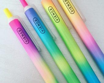 Rainbow colour pen, pastel pen, candy pen, pretty pen