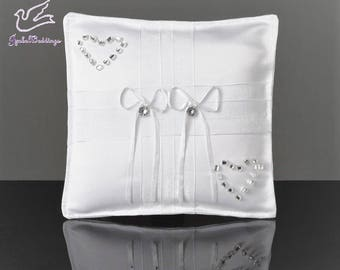 Wedidng rings bearer pillow with crystals