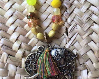 "Necklace ""lemon juice"""