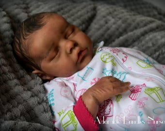Biracial Reborn Baby Girl Julissa ~ Twin B by Bonnie Brown - SOLD