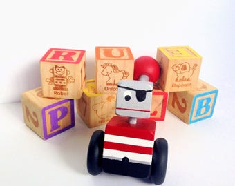 Pirate Robot, Baby Toy, Butterfly, Learning, Floor Play, Playroom, Sensory Toy,